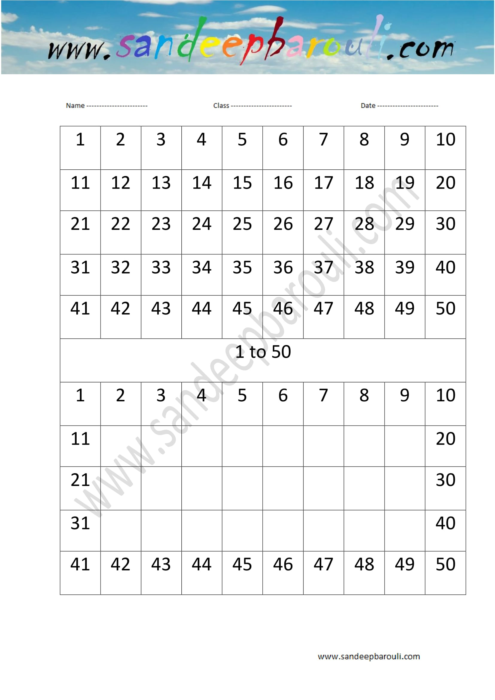 1 to 50 counting missing numbers worksheet 11 educational website 1 to 50 counting missing numbers worksheet 1 robcynllc Choice Image