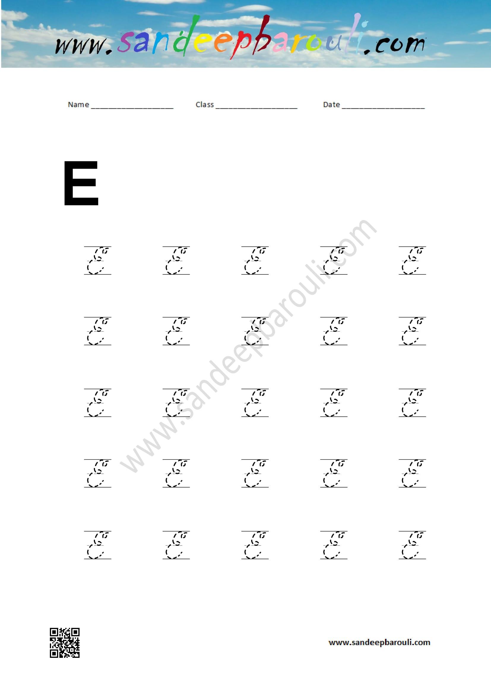 Cursive Capital Letters - SandeepBarouli