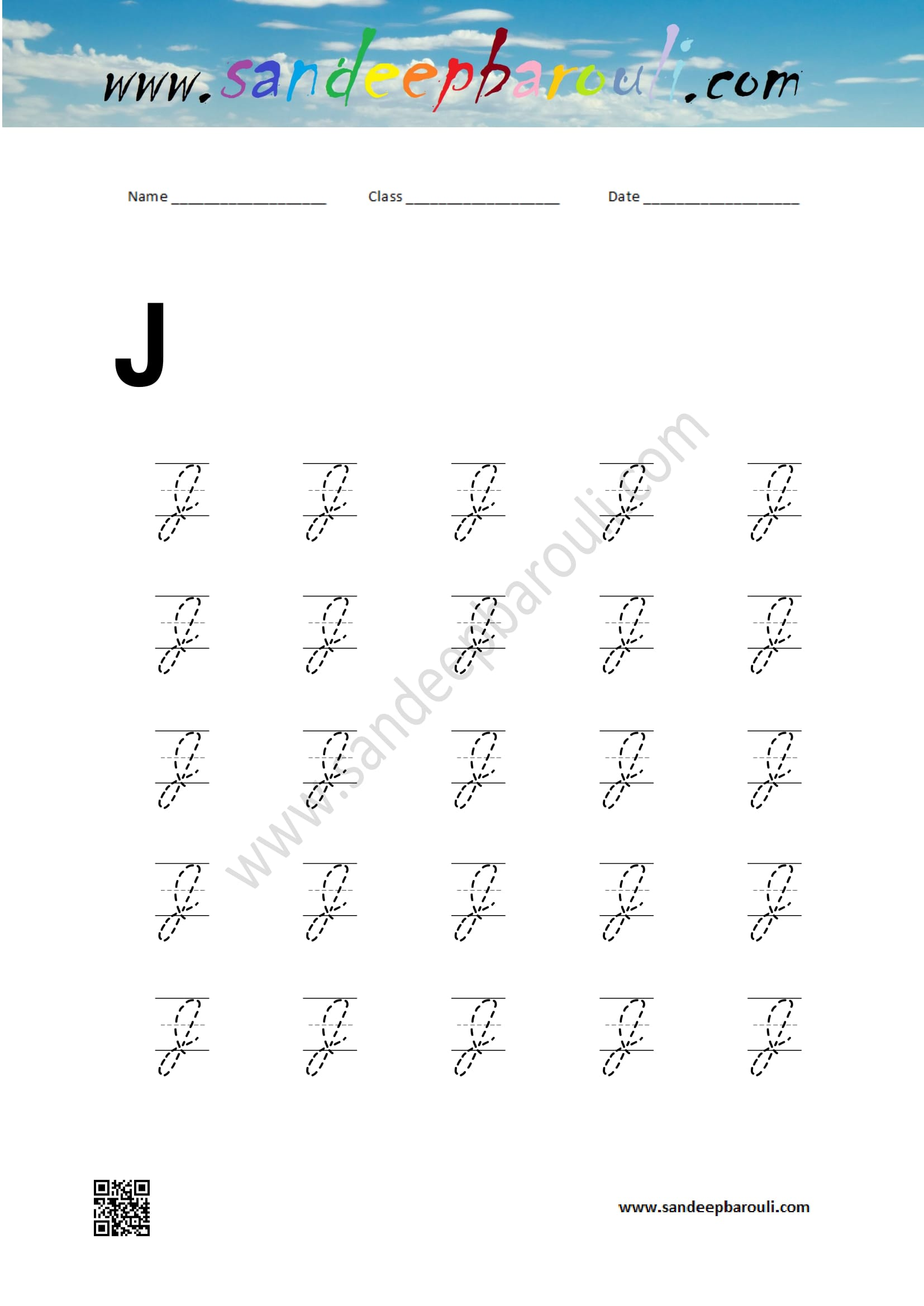 j in cursive writing Cursive letters of the alphabet in upper and lowercase to trace, with arrows to follow 2 pages handwriting practice: cursive letters aa-zz for left-handers (dn-style font) sample letters are on the right side of the page for easier readability for left-handed students.