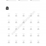 Cursive Writing Worksheet for small letters a