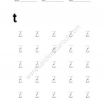 Cursive Writing Worksheet for small letters t