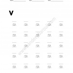 Cursive Writing Worksheet for small letters v