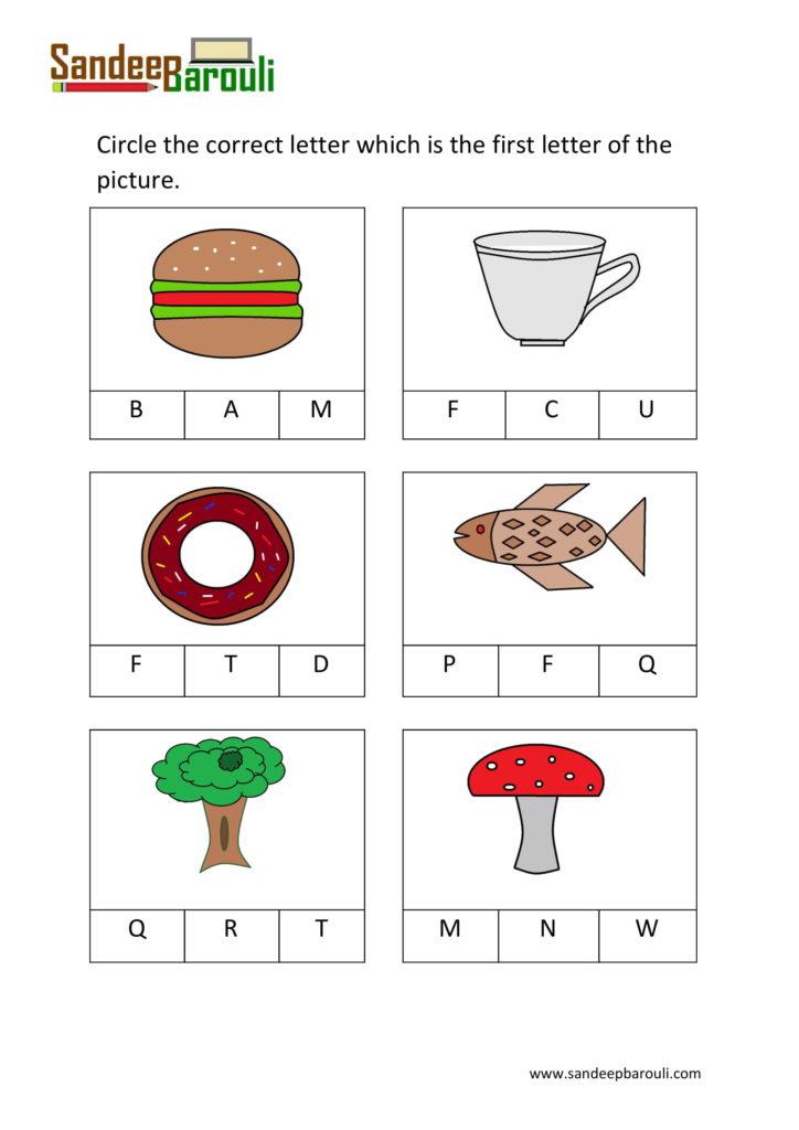 Circle The Correct Letter Worksheets For Kindergarten